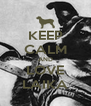KEEP CALM AND LOVE LAIKA - Personalised Poster A4 size