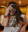 KEEP CALM AND LOVE LALI  - Personalised Poster A4 size
