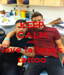 KEEP CALM AND love lallana's tattoo - Personalised Poster A4 size