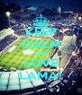 KEEP CALM AND LOVE LAMA! - Personalised Poster A4 size