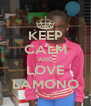 KEEP CALM AND LOVE LAMONO - Personalised Poster A4 size