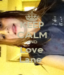 KEEP CALM AND Love Lane  - Personalised Poster A4 size