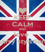 KEEP CALM AND love  Larry stylstion  - Personalised Poster A4 size