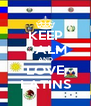 KEEP CALM AND LOVE LATINS - Personalised Poster A4 size
