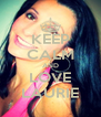 KEEP CALM AND LOVE LAURIE - Personalised Poster A4 size