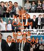 KEEP CALM AND LOVE LAWSON - Personalised Poster A4 size