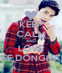 KEEP CALM AND LOVE LEE DONGHAE - Personalised Poster A4 size