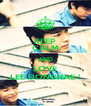 KEEP CALM AND LOVE LEE DONGHAE ! - Personalised Poster A4 size
