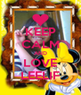 KEEP CALM AND LOVE LEELIF - Personalised Poster A4 size