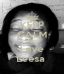 KEEP CALM AND Love Leesa  - Personalised Poster A4 size