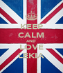 KEEP CALM AND LOVE LEKIA - Personalised Poster A4 size