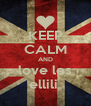 KEEP CALM AND love les ellili  - Personalised Poster A4 size