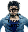 KEEP CALM AND LOVE LETO - Personalised Poster A4 size