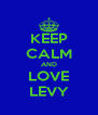 KEEP CALM AND LOVE LEVY - Personalised Poster A4 size