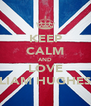 KEEP CALM AND LOVE LIAM HUGHES - Personalised Poster A4 size
