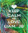 KEEP CALM AND LOVE LIAM.  JB - Personalised Poster A4 size