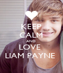 KEEP CALM AND LOVE  LIAM PAYNE  - Personalised Poster A4 size