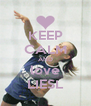 KEEP CALM AND love LIESL - Personalised Poster A4 size