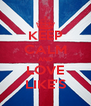KEEP CALM AND LOVE LIKE'S - Personalised Poster A4 size