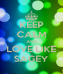 KEEP CALM AND LOVE LIKE SAGEY - Personalised Poster A4 size