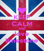 KEEP CALM AND love limestone - Personalised Poster A4 size