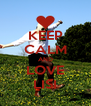 KEEP CALM AND LOVE LISI - Personalised Poster A4 size