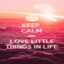 KEEP  CALM AND LOVE LITTLE THINGS IN LIFE - Personalised Poster A4 size