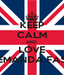 KEEP CALM AND  LOVE LITTLEMANDA FASHION - Personalised Poster A4 size