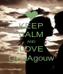 KEEP CALM AND LOVE LiviaAgouw - Personalised Poster A4 size