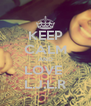 KEEP CALM AND LOVE  L.J.L.R - Personalised Poster A4 size