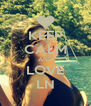 KEEP CALM AND LOVE LN - Personalised Poster A4 size