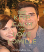 KEEP CALM AND LOVE LOMILLE - Personalised Poster A4 size