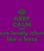 KEEP CALM AND love lonely island like a boss - Personalised Poster A4 size