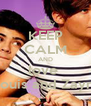 KEEP CALM AND love  Louis and Zayn  - Personalised Poster A4 size