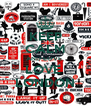 KEEP CALM AND LOVE  LOVE  LONDON - Personalised Poster A4 size
