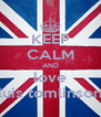 KEEP CALM AND love luis tomlinson - Personalised Poster A4 size