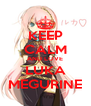 KEEP CALM AND LOVE LUKA MEGURINE - Personalised Poster A4 size