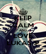 KEEP CALM AND LOVE LUKAS :P - Personalised Poster A4 size