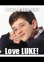 Keep Calm and Love LUKE! - Personalised Poster A4 size
