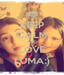 KEEP CALM AND LOVE LUMA:) - Personalised Poster A4 size