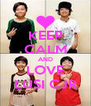 KEEP CALM AND LOVE LUSI CJR - Personalised Poster A4 size
