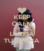 KEEP CALM AND LOVE LUTFIA TUROHMA - Personalised Poster A4 size