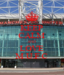 KEEP CALM AND LOVE M.U.F.C - Personalised Poster A4 size