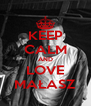 KEEP CALM AND LOVE MAŁASZ - Personalised Poster A4 size