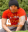 KEEP CALM AND LOVE Macaco - Personalised Poster A4 size