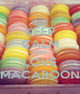 KEEP CALM AND LOVE MACAROON - Personalised Poster A4 size