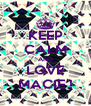 KEEP CALM AND LOVE MACIE ! - Personalised Poster A4 size