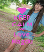 KEEP CALM AND Love Magdu - Personalised Poster A4 size