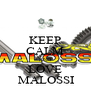 KEEP CALM AND LOVE  MALOSSI - Personalised Poster A4 size