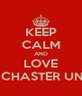 KEEP CALM AND LOVE MANCHASTER UNITED - Personalised Poster A4 size